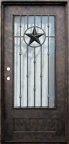 Discount 38 X 81 Texas Star Iron Prehung Door Unit Metal Entry Doors Prehung Doors Wrought Iron Doors Front Entrances