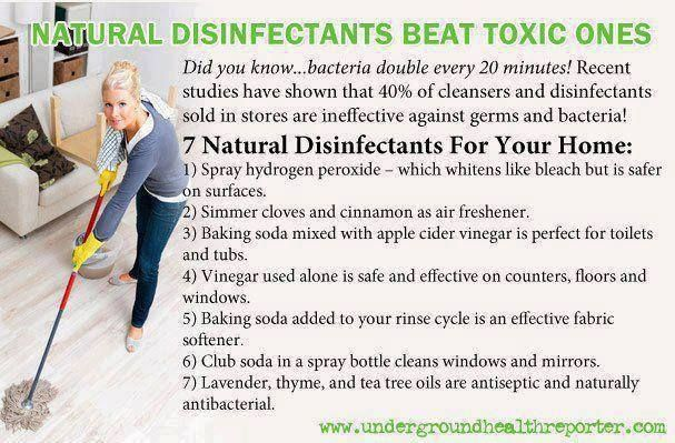 Natural Disinfectants better then off the shelf.