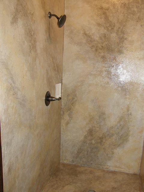 Concrete Shower By Impressive Restorations Concrete Shower Concrete Bathroom Bathroom Remodel Shower