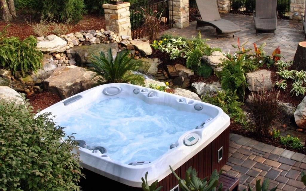 Cool nights are great for soaking in the hot tub. Create a view with ...