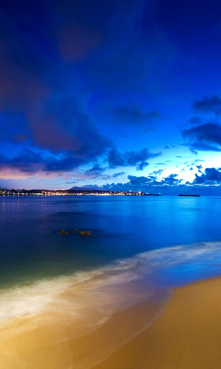 Night Beach Wallpaper For 768x1280 Background Hd Wallpaper Beach Wallpaper Beautiful Night Images