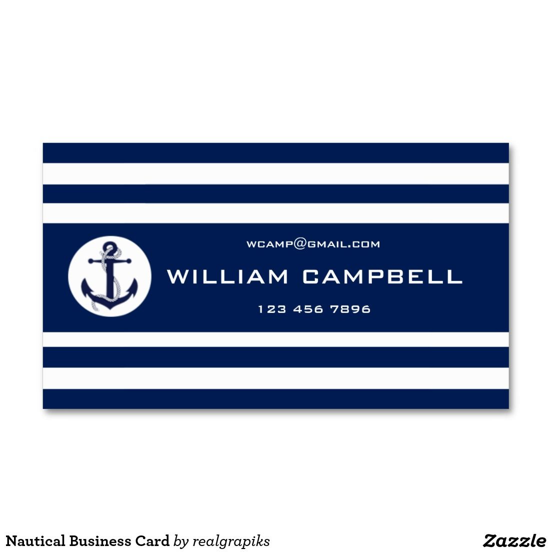 Nautical Business Card Standard Business Cards | Deluxeforms - Great ...