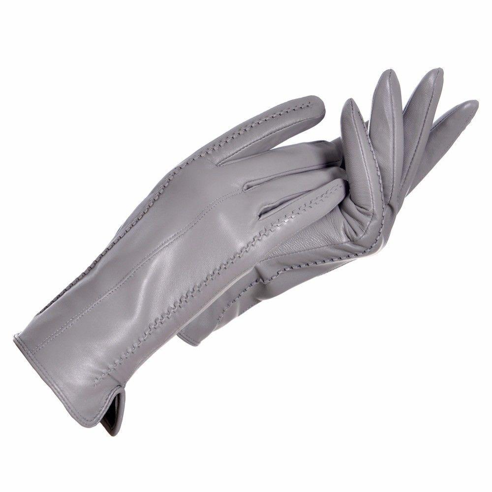 f37a77fdd5d83 Women Leather Gloves Genuine Winter Thermal Warm Women Sheep Skin Lining  Touch #WomenLeatherGloves #WinterGloves