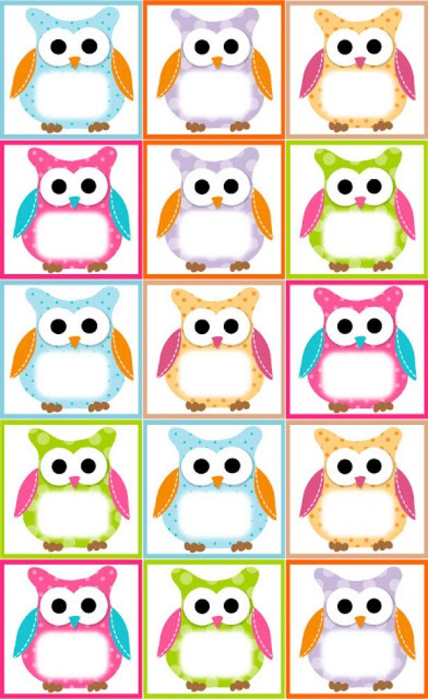 Free Printable Birthday Card Template Free Owl Label Templates  Ideitas Interesantes  Pinterest  Owl .
