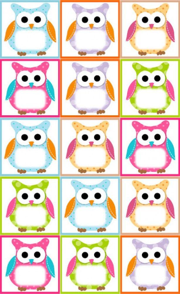Free Owl Label Templates Printables Owl theme classroom, Owl