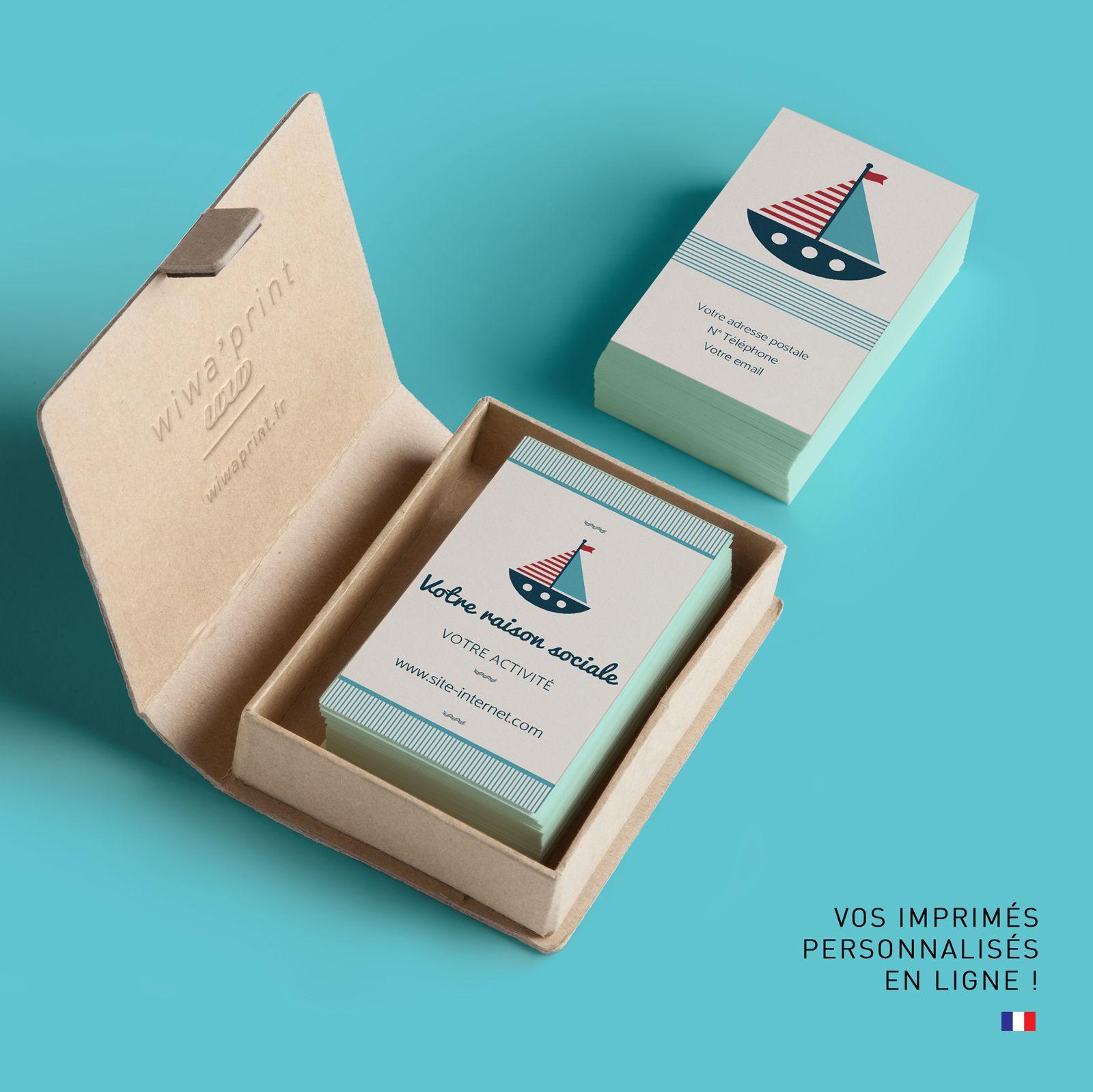 Carte De Visite Douce Et Moderne Dans Le Style Marin Carte De