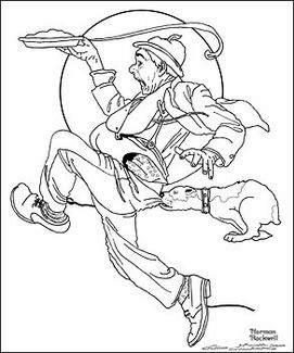 norman rockwell coloring pages Google Search Manly