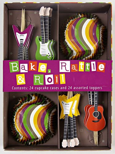 Rock n roll cupcake decorating kit Drum Marching Band Party