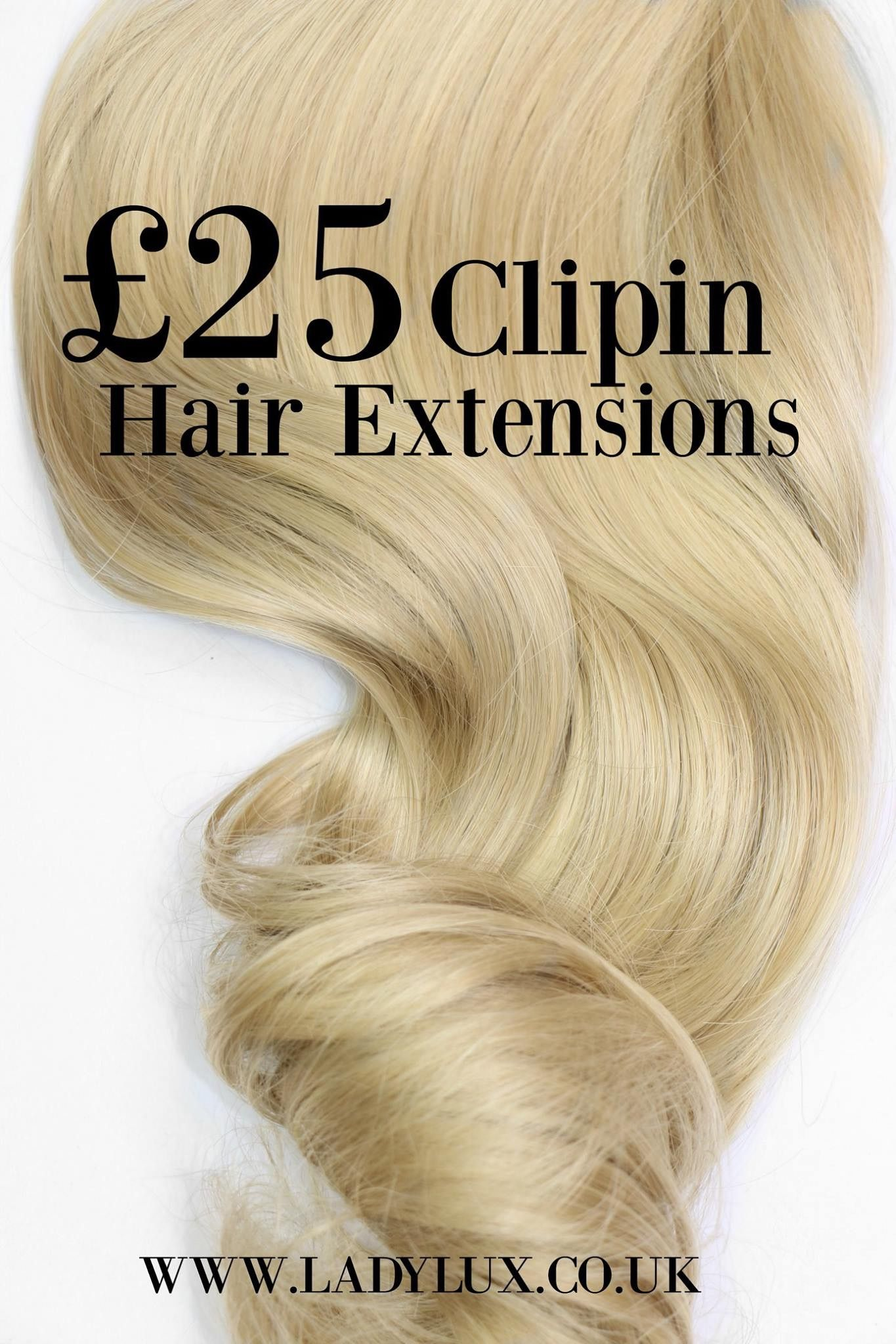 Pre Styled Clip In Hair Extensions Only 25 From Our Edinburgh Salon