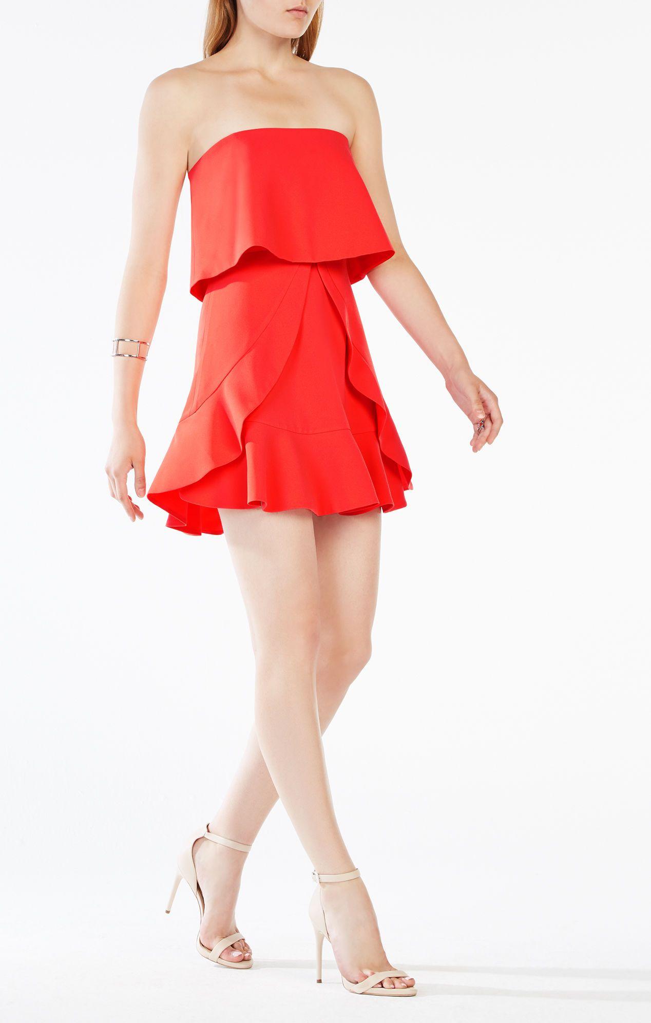 Charlot Strapless Ruffle Dress Strapless Ruffle Dress Flounced Dress Strapless Cocktail Dresses [ 1992 x 1268 Pixel ]