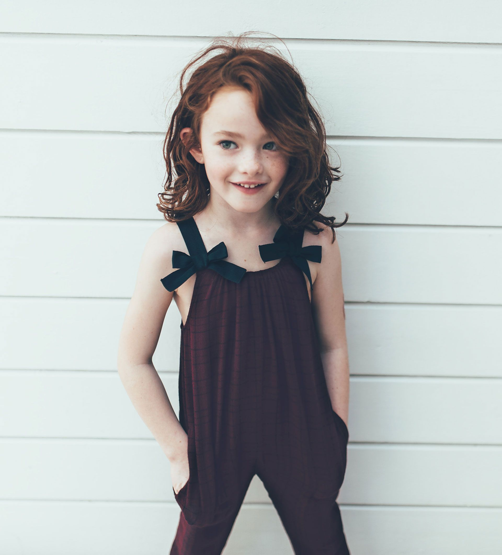 f582bbce14 CHECKED JUMPSUIT WITH BOWS - DRESSES AND JUMPSUITS-GIRL | 4-14 years ...