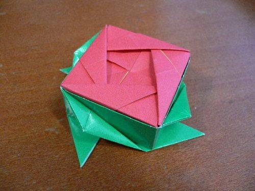Origami Box Origami Rose Box Origami Pinterest Origami