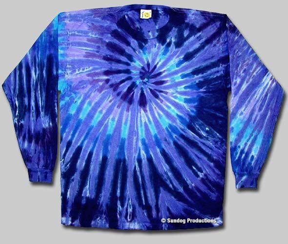 a99fdea1 Swirl Tie Dye Long Sleeve T-Shirt - Twilight   Sundog: Custom t-shirt  designer, screen printer and manufacturer. Fairfax VA.