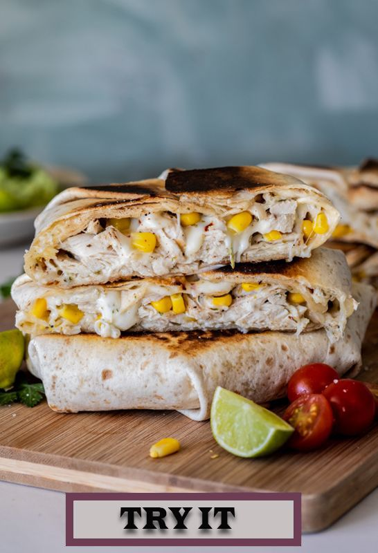Easy Lunch and Fast Dinner Recipe: Chicken Corn Crunchwraps images