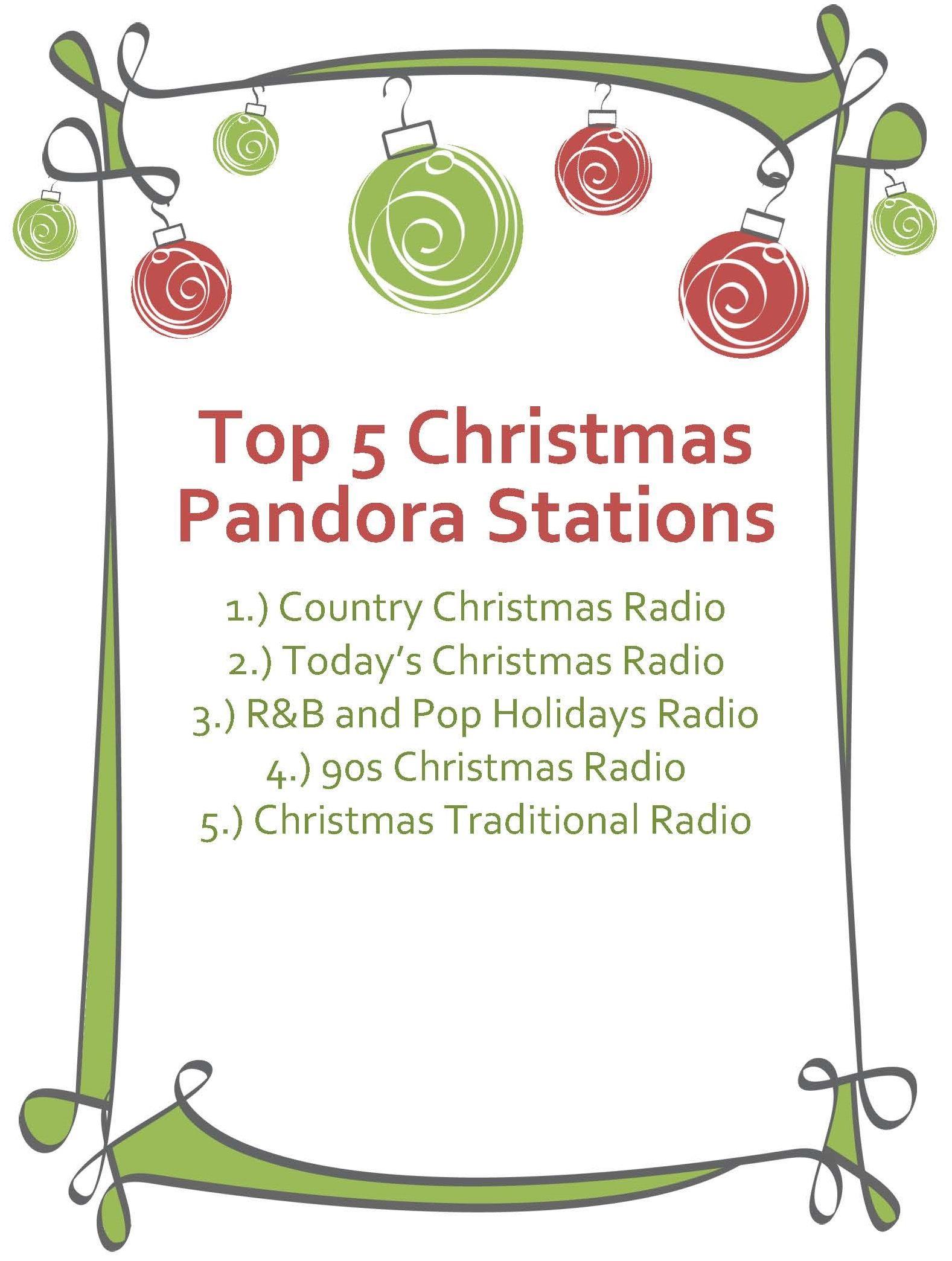 Christmas Music Christmas radio, Pandora stations