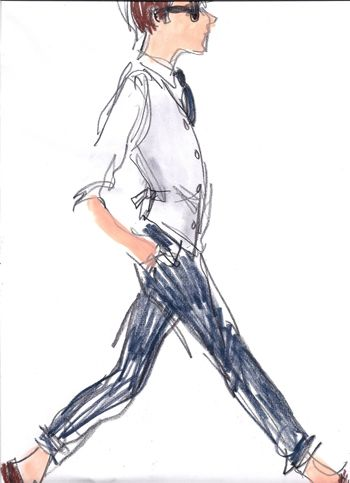 men's fashion illustration from What I Saw Today. #illustration #fashion #fashionillustration