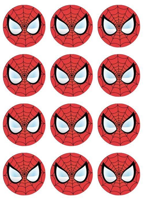Spiderman D Edible Cake Topper