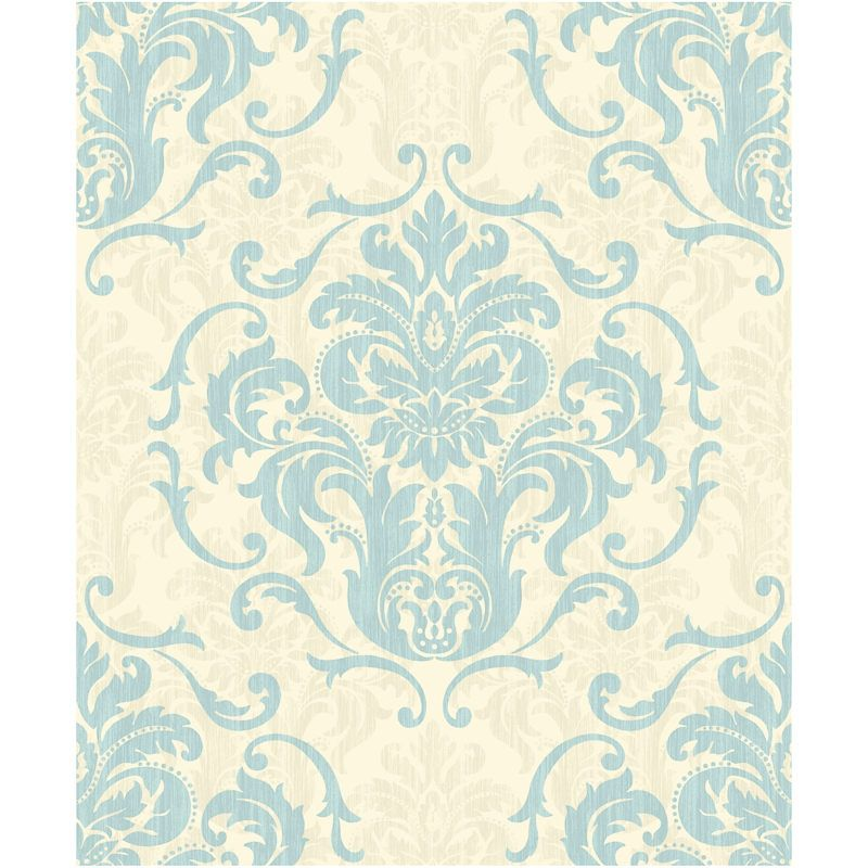 Interiors chelsea duckegg cream damask wallpaper