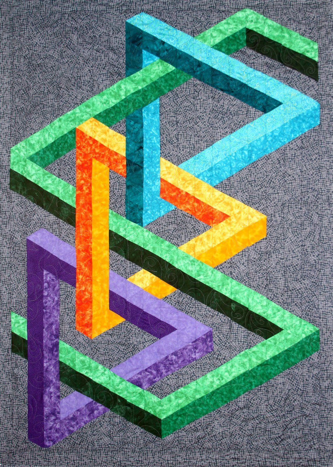 Mezzanine Kit   illusion quilt   3d quilts, Geometric quilt, Quilts