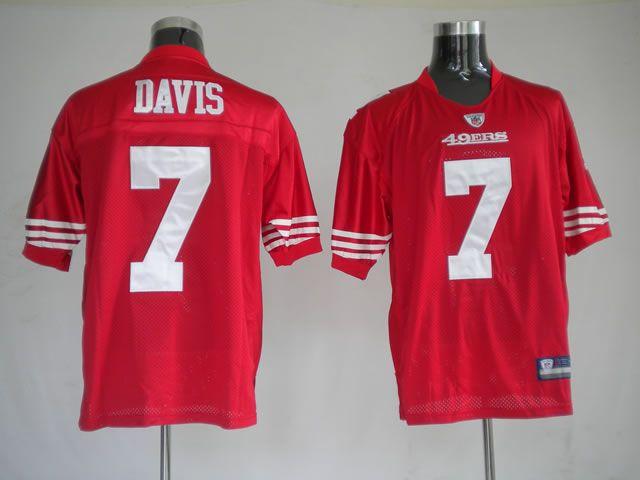 debe16dad  25.00 Reebok NFL Jersey San Francisco 49Ers Nate Davis  7 Red ...