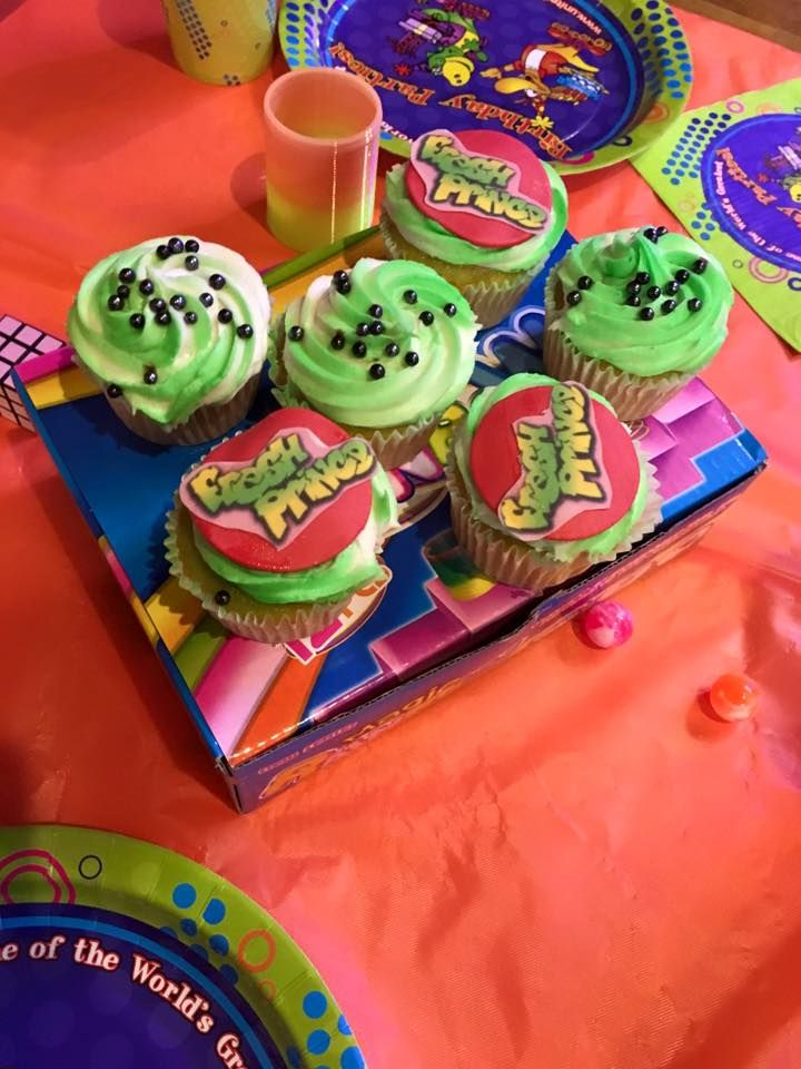 Fresh Prince Themed Cupcakes Prince Birthday Party Sweet 16