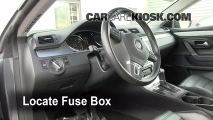 Interior Fuse Box Location 2009 2014 Volkswagen Cc 2009 Volkswagen Cc Luxury 2 0l 4 Cyl Turbo Volkswagen Cc Vw Passat Cc Volkswagen