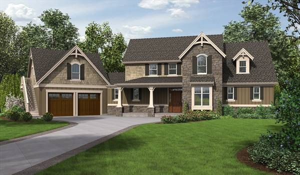Traditionally Styled Home Complete With Studio Craftsman House Plans Craftsman Style House Plans Craftsman House