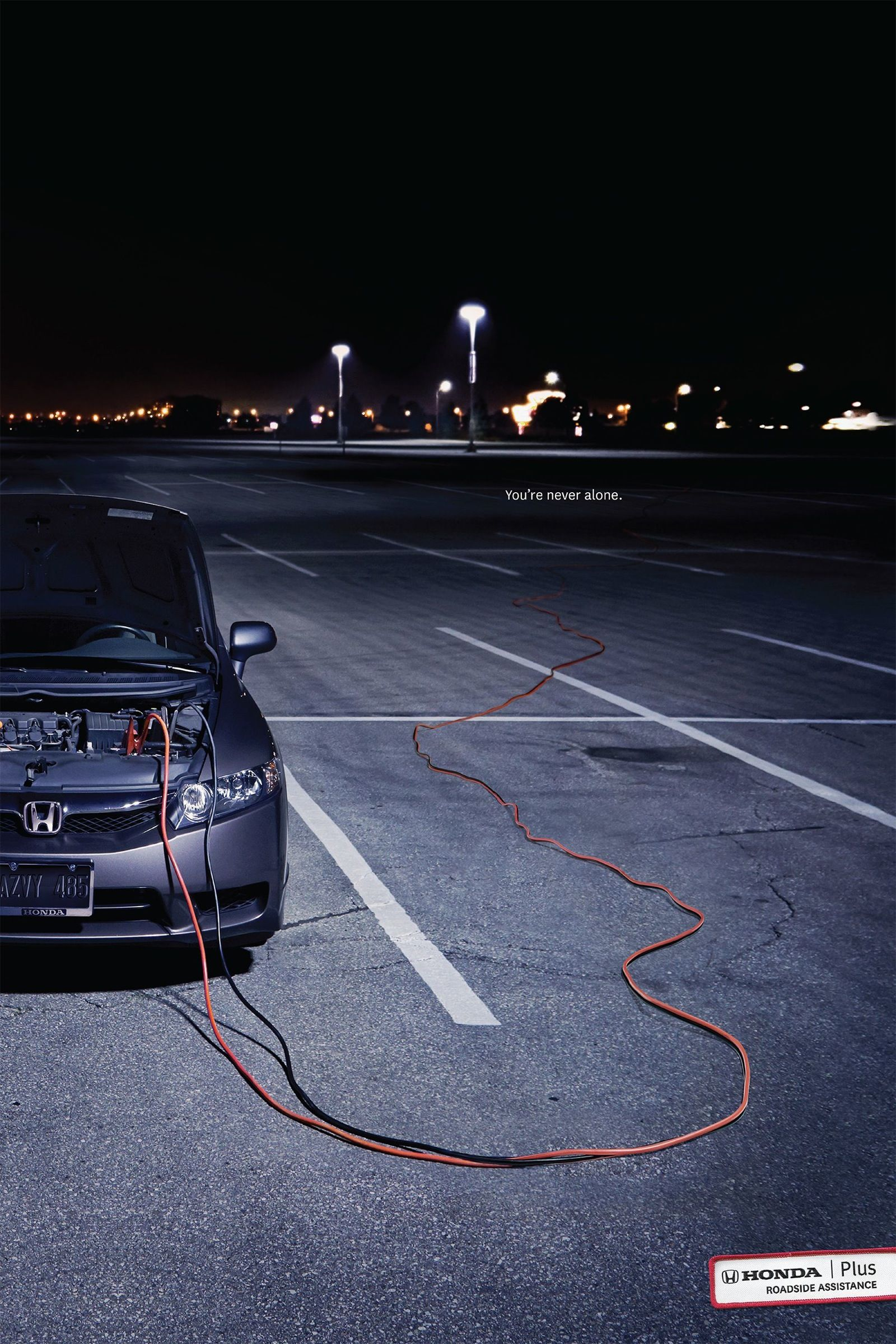 Honda Plus Roadside Assistance Jumper Cable Advertising