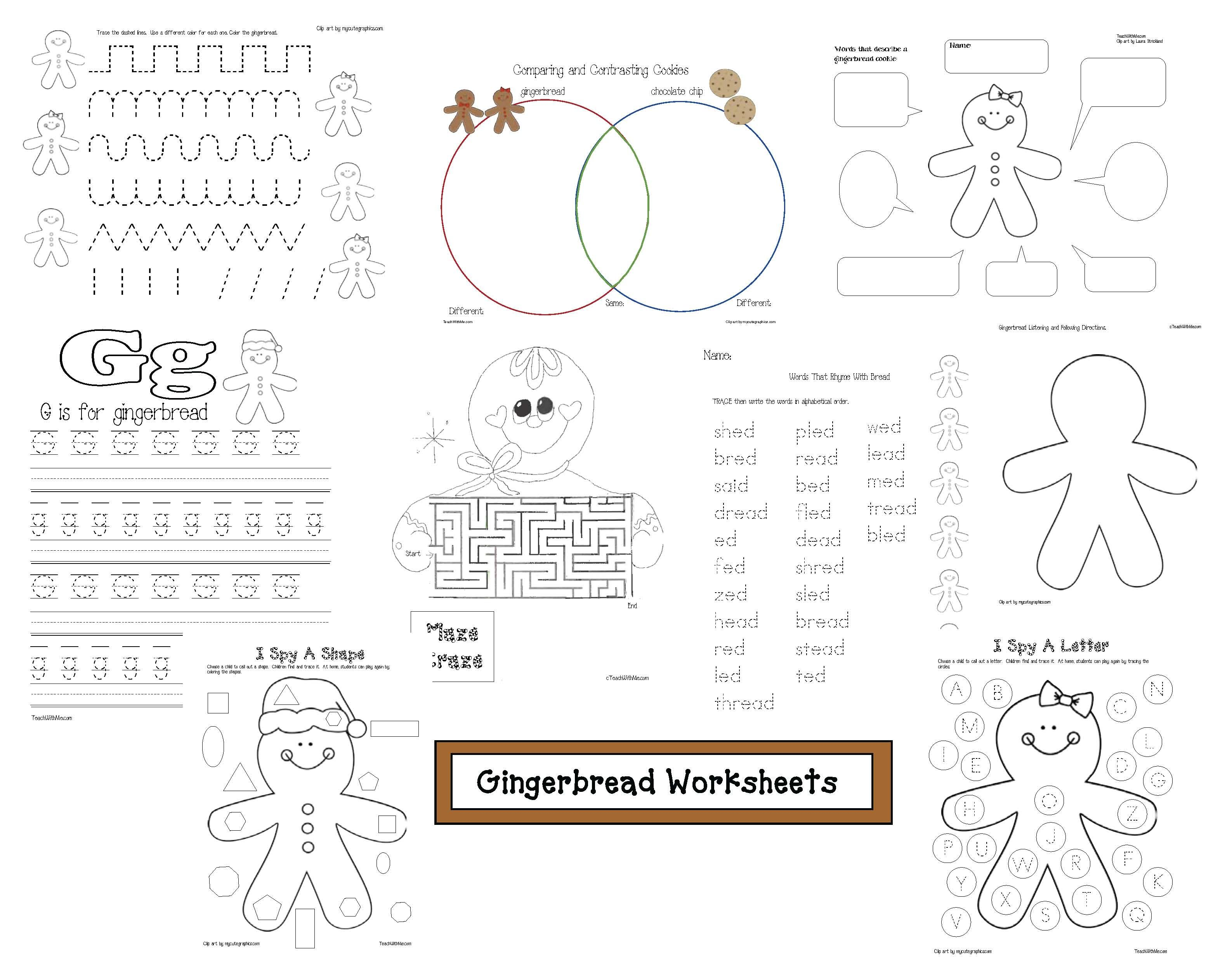 Gingerbread Galore Activities And Games