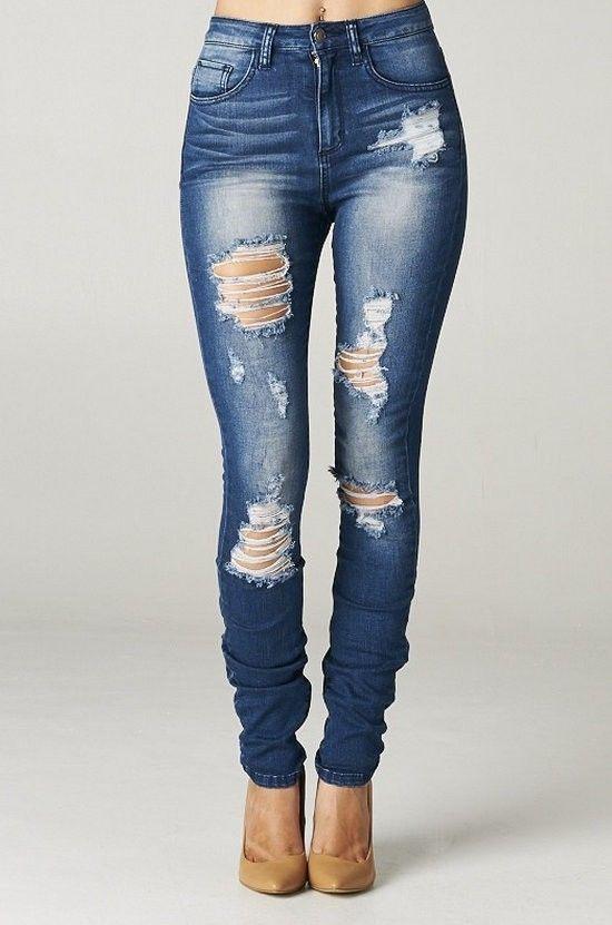 Outfits Con Jeans Rotos Jeans De Moda Ropa Pantalones De Mezclilla