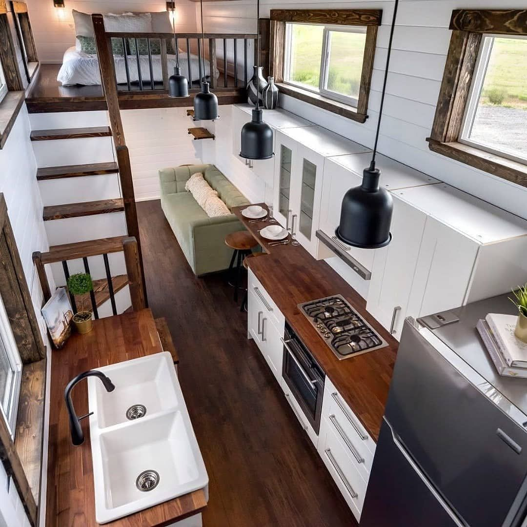 Tiny Houses On Instagram Take A Look At The Canada Goose It Is A Gorgeous 42 Foot Gooseneck T Tiny House Interior Design Tiny House Hunters Tiny House Decor