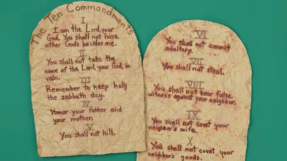 Ten Commandments Tablets Bible Crafts 10 Commandments Craft Sunday School Crafts