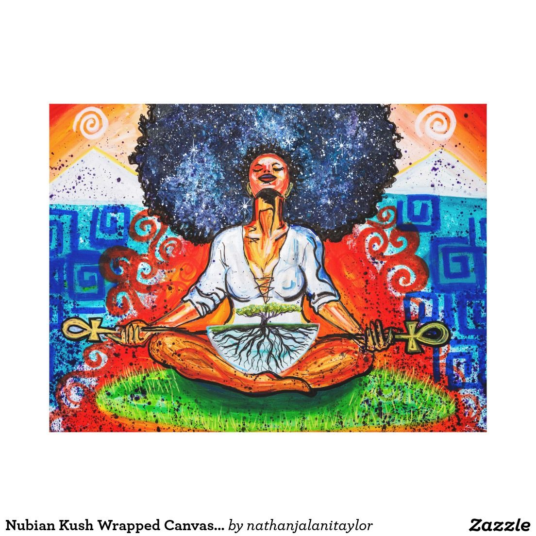 Nubian Kush Wrapped Canvas Print