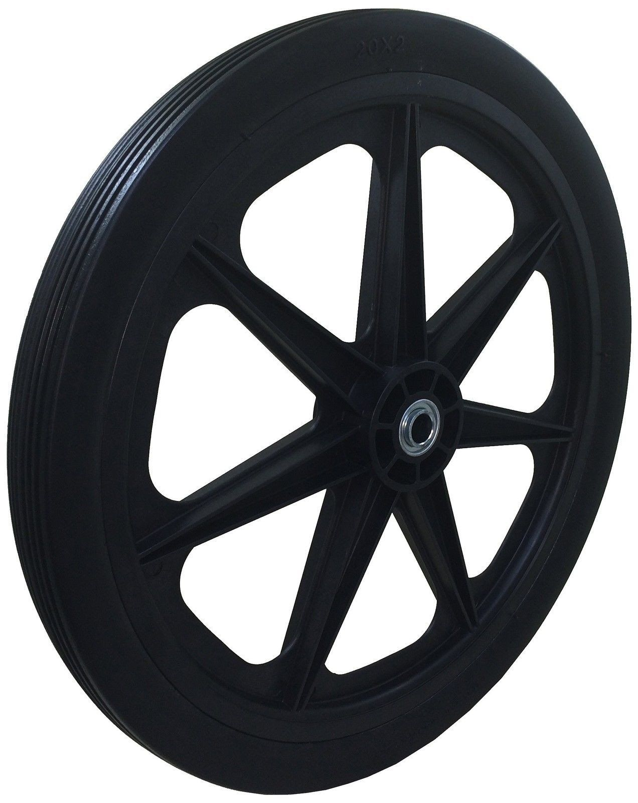 "Marathon 20X2.0"" Flat Free Cart Tire On Plastic Rim 3/4"