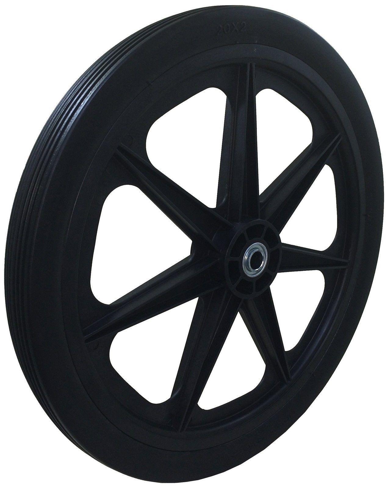 """Marathon 20X2.0"""" Flat Free Cart Tire On Plastic Rim 3/4"""