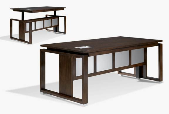 Bon Executive Sit To Stand Solid Wood American Made Electric Lift Desk