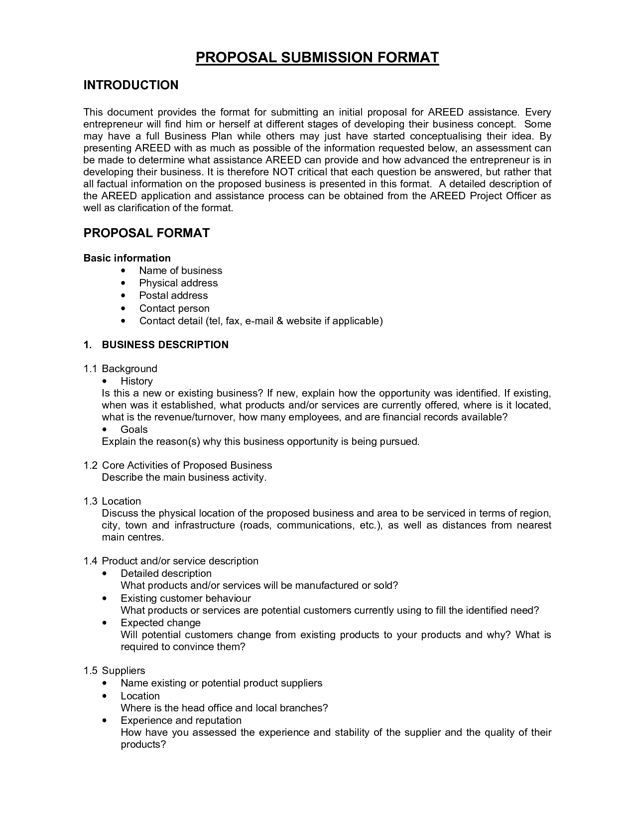 Business Proposal FormatsBusiness Proposal Template Business ...