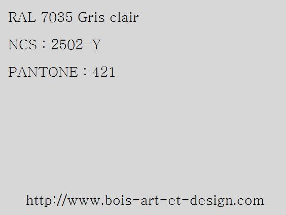 ral 7035 gris 564 423 codes ral codes ncs. Black Bedroom Furniture Sets. Home Design Ideas