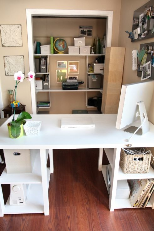 closet office desk. Love These DIY Projects For My Home Office! Entirelyeventfulday.com #office #homeoffice. Closet OfficeHome Office DesksHome Desk