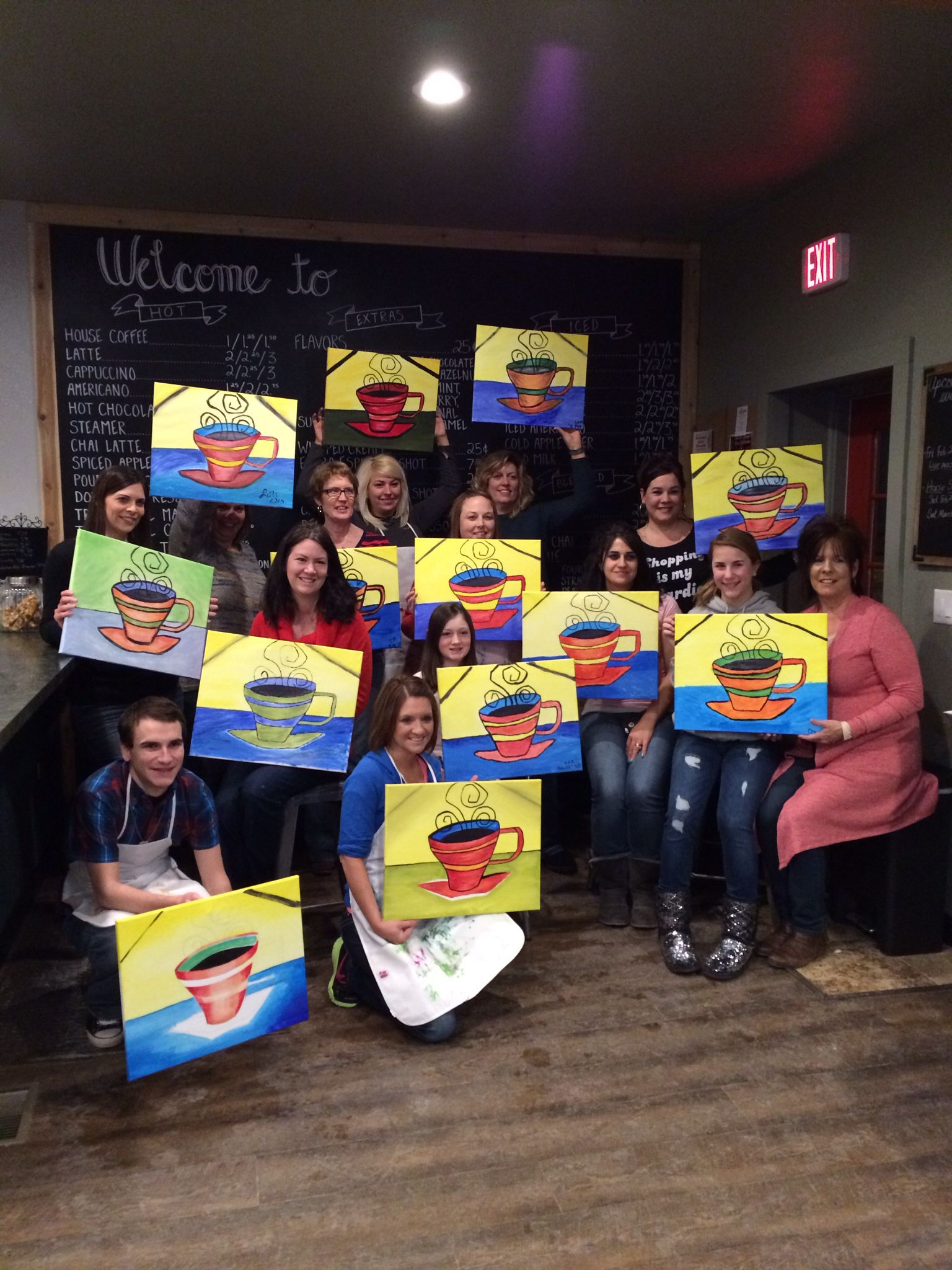 Paint N Brew nights at MoCo House