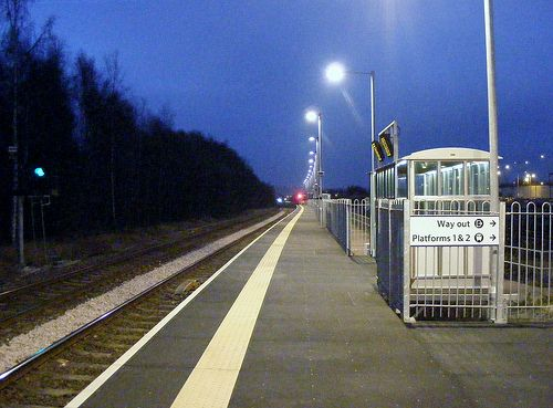 Platform Three Chesterfield Railway Station