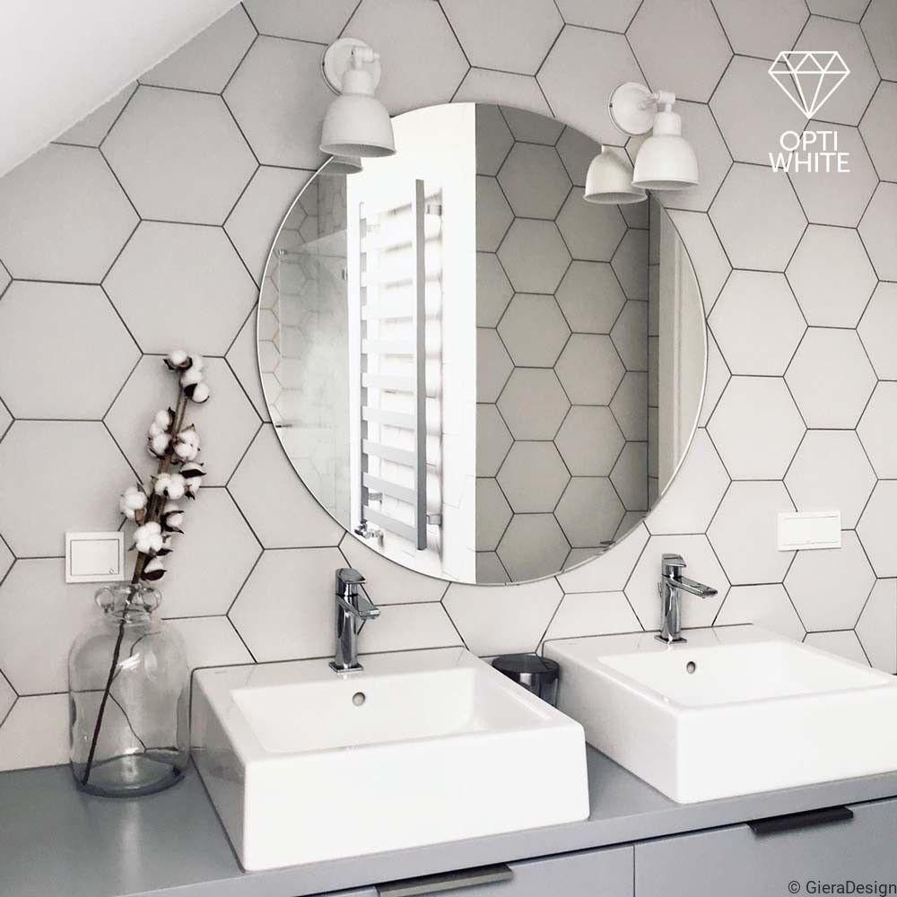 Lustro Okrągłe Super Białe W 2019 Płytki łazienka