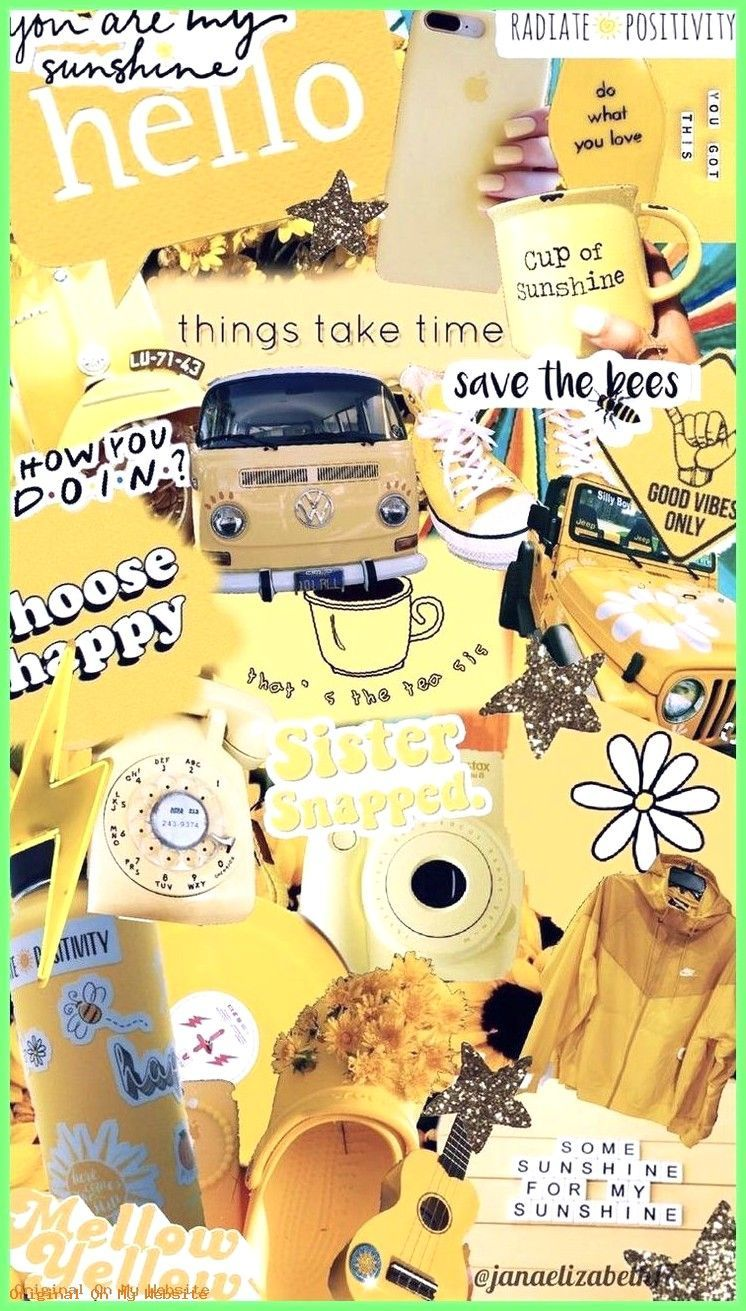 Aesthetic Tumblr Wallpaper Yellow Collage Background 2 Wallpaper