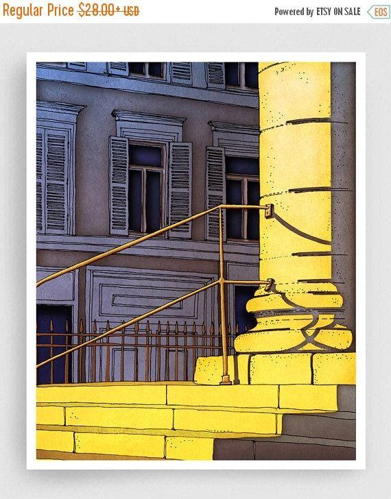 30 % OFF SALE: Paris-Abbildung  Bonjour Paris  Art Print von tubidu