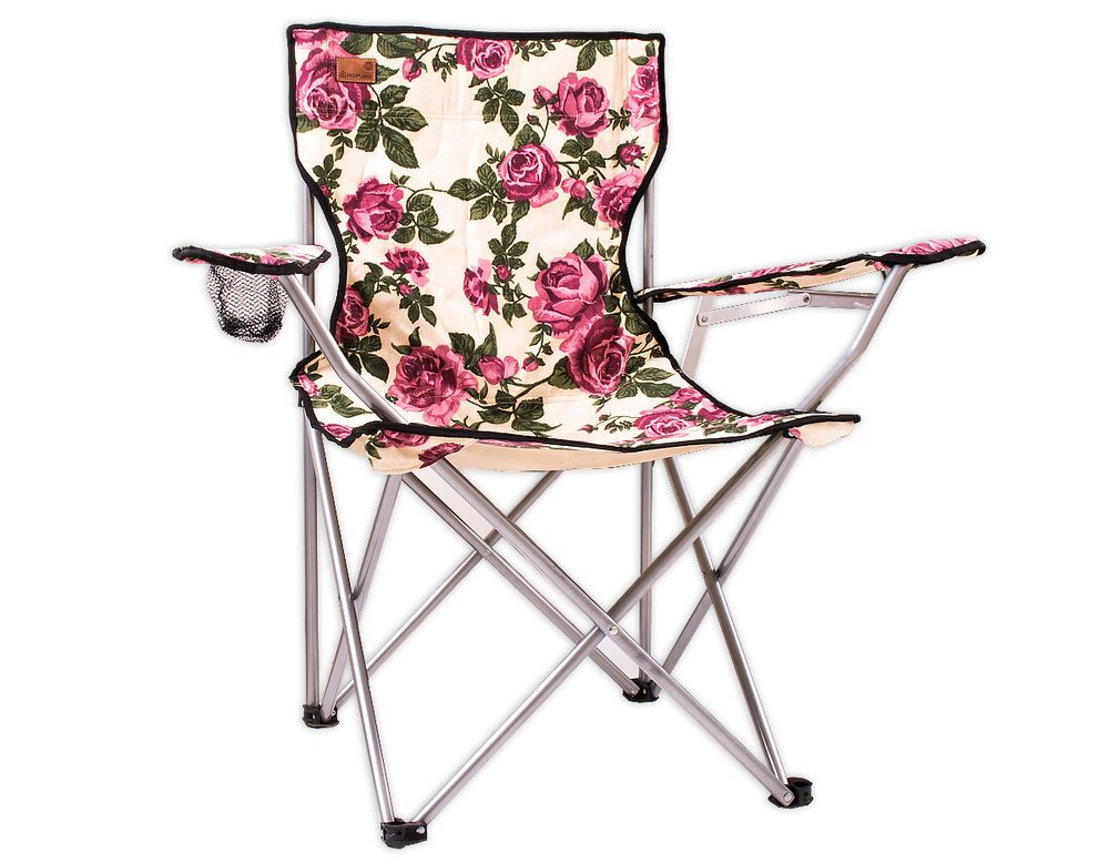 Highplains Vintage Floral Pair Of Camping Chairs Festival