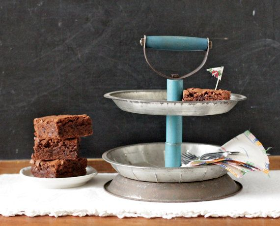 40 Tier Kitchen Display Stand Organizer Made From Vintage Pie Plates Awesome Pie Display Stand