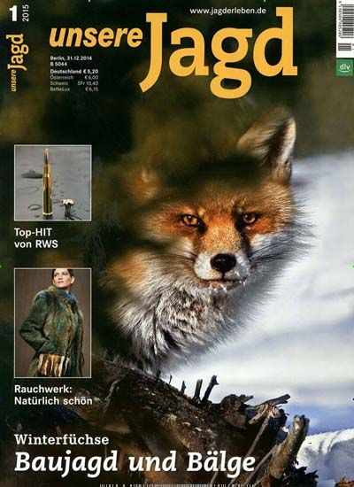 Winterfüchse - Baujagd und Bälge. Gefunden in: unsere Jagd, Nr. 1/2015
