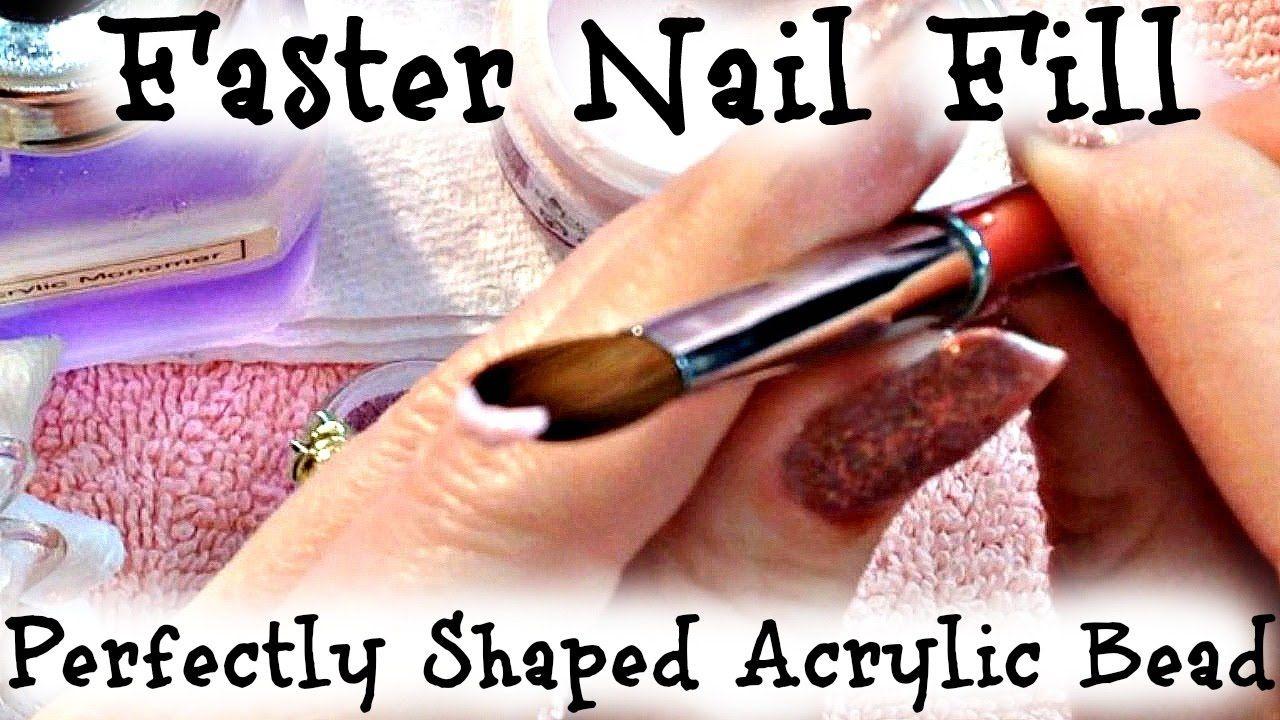 Acrylic Nail Fill Tutorial Apply Acrylic In Under 5 Min With Perfect Sh Acrylic Nail Kit Acrylic Nails At Home French Acrylic Nails