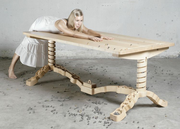 A Dining Table That Doubles As A Marble Run