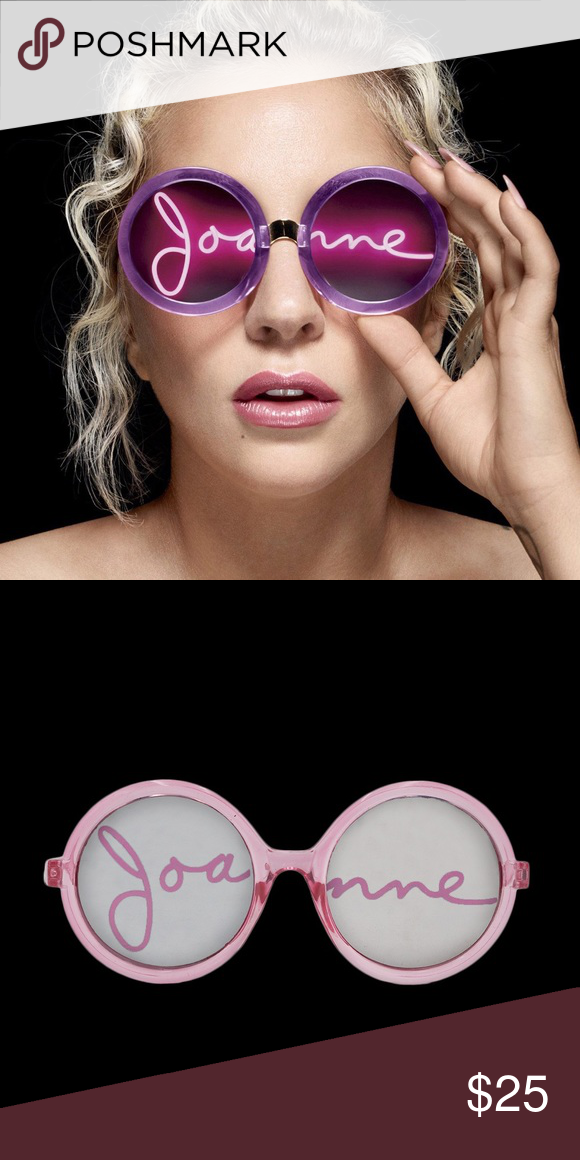 5723f3108fa Lady Gaga Joanne Sunglasses Great condition. Official tour merchandise.  Sold out online. Accessories Glasses